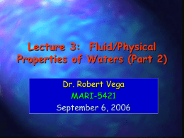 Lecture 2: Physical Properties of Water