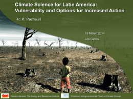 Climate science at the heart of sustainable policy making