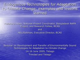 Endogenous Technologies for Adaptation to Climate Change