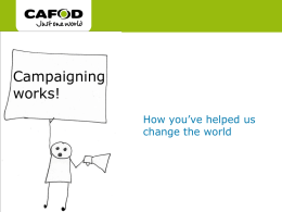 Campaigning works powerpoint