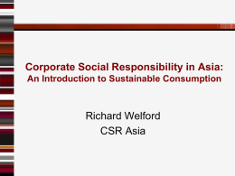 3b - An introduction to sustainable consumption in Asia Pacific