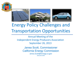Honorable Janea Ashanti Scott - Independent Energy Producers