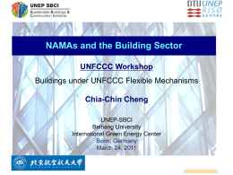 NAMAs and building sector - CDM