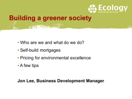 Building a greener society