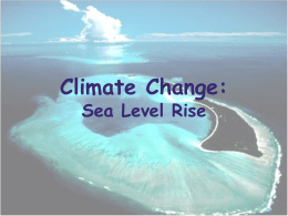 Sea level rise presentation - Pacific Islands Ocean Observing System