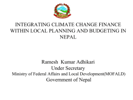 Session 6.2.2 Nepal - Climate Change Finance and Development