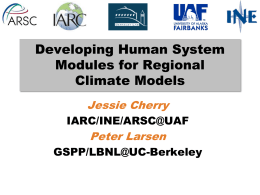 Developing Decision-Support Modules for Climate Models