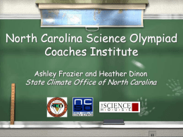 North Carolina Science Olympiad Coaches Institute