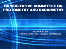 CONSULTATIVE COMMITTEE ON PHOTOMETRY AND …