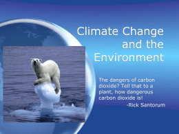 Climate Change and the Environment