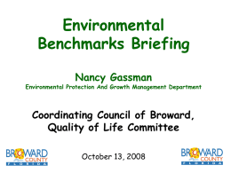 Benchmarks Briefing September 11, 2008