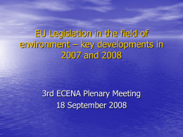 EU Environmental Policy Priorities