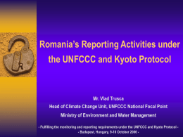 Climate Change Related Activities in Romania