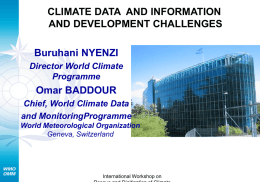 WMO RELATED OUTCOMES OF UNFCCC COP12