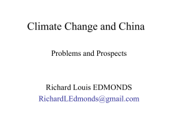 Climate change and China
