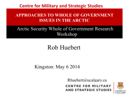 evaluating the Arctic security (intergovernmental) Working