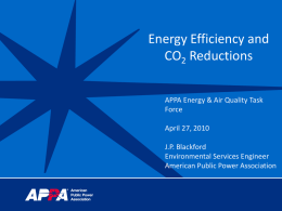 Energy Efficiency and CO2 Reductions