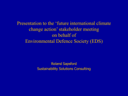 Presentation to the future international climate change