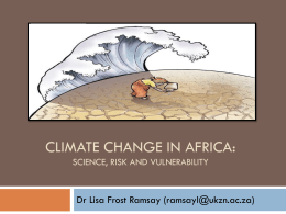 Climate change and Africa