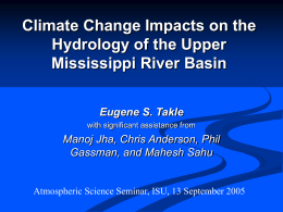 PowerPoint Presentation - Impact of Climate Change on Flow