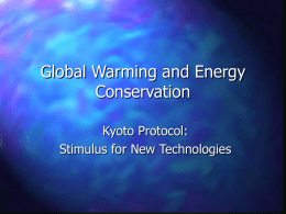 Kyoto Protocol and Global Warming