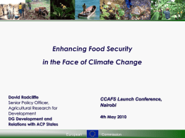 EU DEVELOPMENT POLICY FOOD SECURITY
