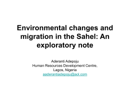 Environmental changes and migration in the Sahel: An