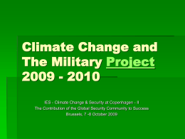 Climate Change and The Military 2009