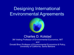 Designing International Environmental Agreements