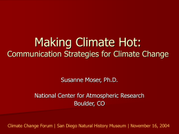 Making Climate Hot: Communication Strategies for Climate