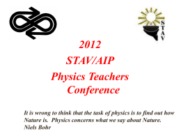 Physics Teachers Conference