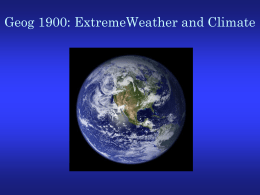 Geography 120 Earth Systems II: The Atmospheric Environment