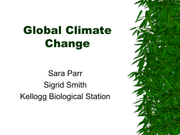 Global Climate Change - Kellogg Biological Station