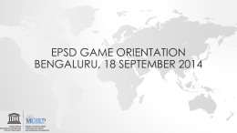 EpsdGAme ORIENTATIONBENGALURU, 18 September 2014
