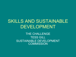 SKILLS AND SUSTAINABLE DEVELOPMENT