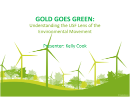 GOLD GOES GREEN: