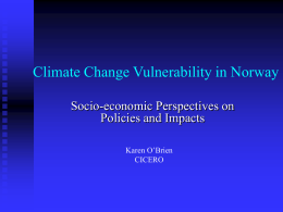 Climate Change Impacts in the Context of Economic