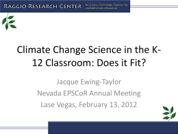 Climate Change Science in the K