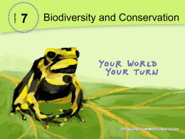 7-2 Extinction and Biodiversity Loss PowerPoint
