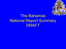 The Bahamas National Draft Report on Integrating