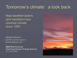 What`s with this climate? Coverage of climate change in US and