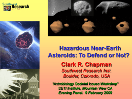 Hazardous Near-Earth Asteroids: To Defend or Not?