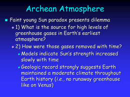 Earth`s Climate System Today