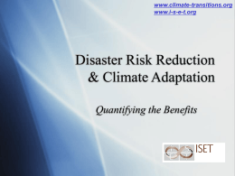 DRR and CCA quantifying the benefits