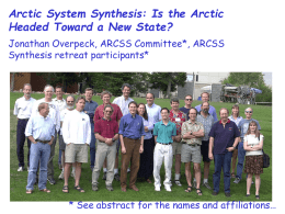 Quick - why an ARCSS Arctic System Synthesis?