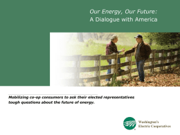 Our Energy Community Powerpoint presentation