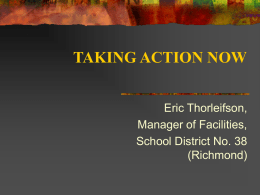 taking action now - Richmond School District