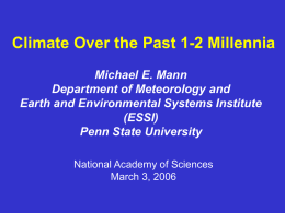 Climate over the Past 1-2 Millennia