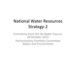 National Water Resources Strategy-2