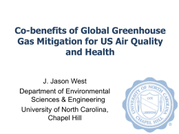 Co-benefits of global greenhouse gas mitigation for US air quality